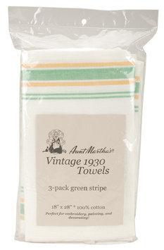 Aunt Martha's Aunt Martha 3/Pkg -Towels Vintage Green