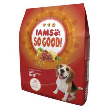 Procter & Gamble Iams So Good Wholesome Blends with Hearty Beef Adult Dry Dog Food 27