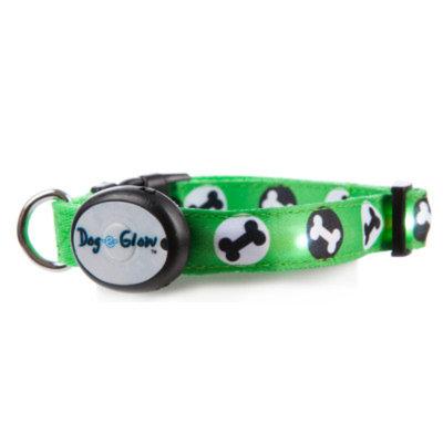 Top PawA Glow Bone Light-Up Dog Collar