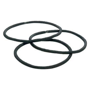 Goody 51Ct Thin Black Elastics