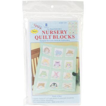 Jack Dempsey Nursery Quilt Block 12pc Peek A Boo