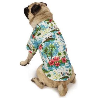 Pet Edge Dealer Services Casual Canine Hawaiian Breeze Dog T-Shirt XS
