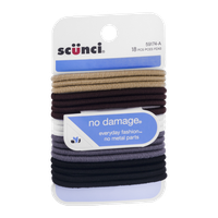Scunci No Damage Hair Ties Assorted Colors - 18 CT