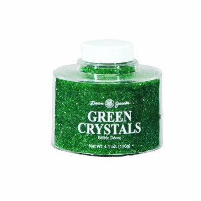 Dean Jacob's Dean Jacobs Green Crystals Stacking Jar, 4.1-Ounce (Pack of 6)
