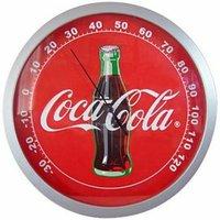 Sunbelt Coca-Cola Coke Contour Bottle Round Thermometer