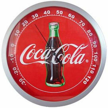 Sunbelt Coca-Cola Coke Contour Bottle Round Thermometer