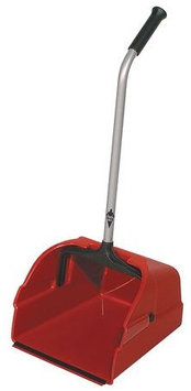 TOUGH GUY 22F181 Long Handle Dust Pan, Plstc,13-3/4 W,Red
