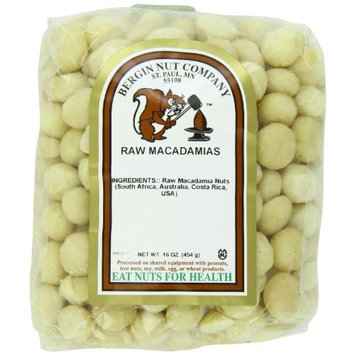 Bergin Nut Company Macadamia Whole Raw, 16-Ounce Bags (Pack of 2)