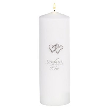 Hortense B. Hewitt With All My Heart Unity Candle - White