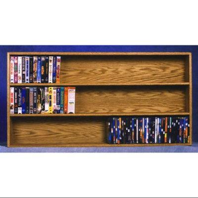 Wood Shed Solid Oak Wall Mount Media Storage (Clear)