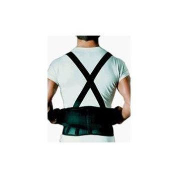 Sportaid Back Belt With Suspenders Black, Medium/Large - 1 ea