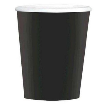 Amscan 689100.10 12 oz. Black Paper Coffee Cups - Pack of 480