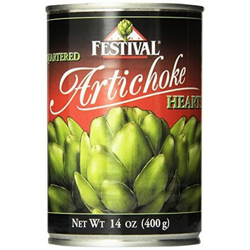 Festival Quartered Artichoke Hearts in Water, 14-Ounce Cans (Pack of 12)