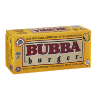 Bubba Burger U.S.D.A. Choice Beef Chuck 1/3 Pound Burgers with Sweet Onions - 6 CT