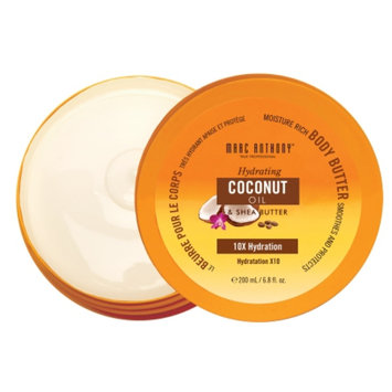 Marc Anthony True Professional Body Butter, Hydrating Coconut Oil & Shea Butter, 6.8 fl oz