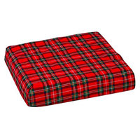 Mabis Wheelchair Seat Pad Convoluted With Plaid Cover