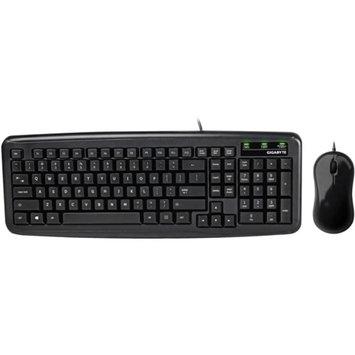 Gigabyte GIGABYTE GK-KM5300 USB 2.0 Wired Mini Compact Keyboard Mouse Set, Black