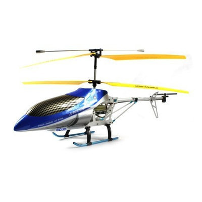 Velocity Toys Sky Emperor SCUD Electric RC Helicopter Huge Scale Dual Brushless Motors GYRO Gyroscope 3.5CH Channel Ready To Fly RTF (Colors May Vary)