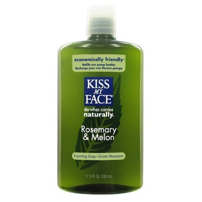 Kiss My Face Organic Rosemary & Melon Self Foaming Liquid Soap Refill, 17.5-Ounce Bottles (Pack of 3)