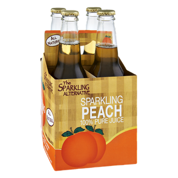 Alpenglow The Sparkling Alternative Sparkling Peach 100% Pure Juice - 4 CT