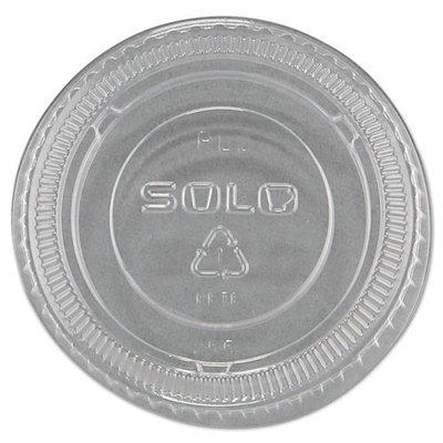SOLO Cup Company SLOPL2 No-Slot Plastic Cup Lids, Fits 1.5-3.5 oz. Cups, Clear, 2500 Per Carton
