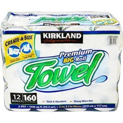 Kirkland Signature Premium Big Roll Paper Towels 12-roll, 160 Sheets Per Roll [1]