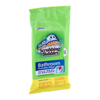 Scrubbing Bubbles Bathroom Flushable Wipes Citrus Action Scent - 28 CT