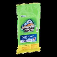 Scrubbing Bubbles Bathroom Flushable Wipes Citrus Action Scent - 28 CT