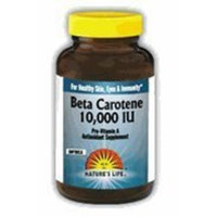Beta Carotene 10,000 IU Nature's Life 100 Softgel