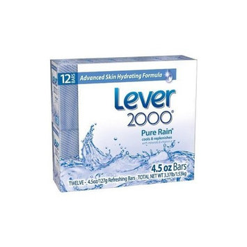 Lever 2000 Moisturizing Bar Soap , Pure Rain, 4.5-ounce Bars in 12-count Packages