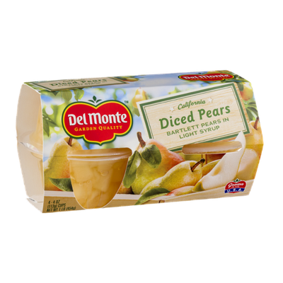 Del Monte California Diced Pears in Light Syrup - 4 CT