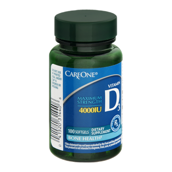 CareOne Vitamin D 3 Soft Gels Maximum Strength - 4000 IU