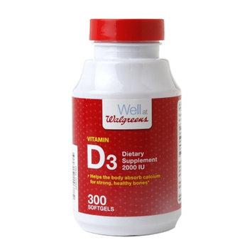 Walgreens Vitamin D3 2000Iu Softgels, 300 ea