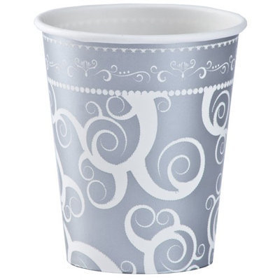 Hanna K Signature Hanna K. Signature 90182 9 Oz Silver Medley Paper Hot/Cold Cup Everyday Ensembles - 864 Per Case