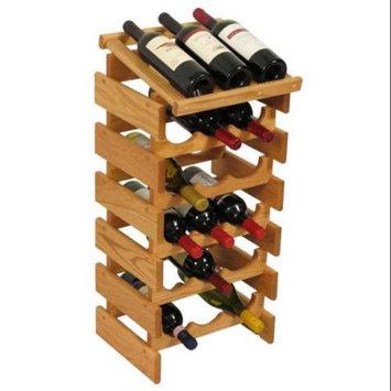 Wooden Mallet WRD35LO 18 Bottle Dakota Wine Rack with Display Top