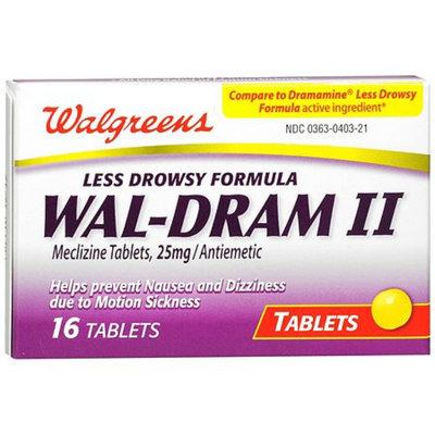 Walgreens Wal-Dram II Antiemetic Travel Sickness Tablets