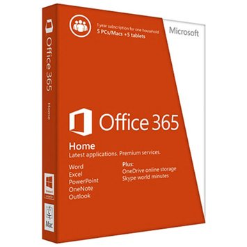 Microsoft Office 365 Home- 5 PCs/Macs + 5 Tablets/iPads, 1-Year Subscription