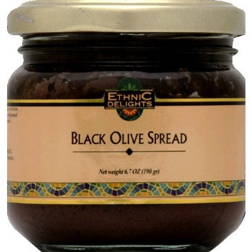 Ethnic Delights Black Olive Spread Passover, 6.7000-ounces (Pack of 6)