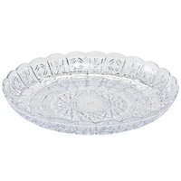 Party Dimensions 60251 11 in. Clear Crystal Cut Plastic Round Trays - 25 Per Case