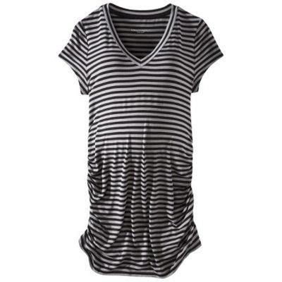 Liz Lange For Target Maternity Short-Sleeve V-Neck Tunic Top Gray/Black XXL-Liz Lange for