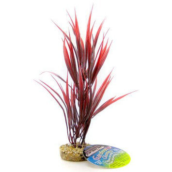 Royal Pet Products Blue Ribbon Pet Products Sword Plant with Gravel Base - Red: Red - 10&
