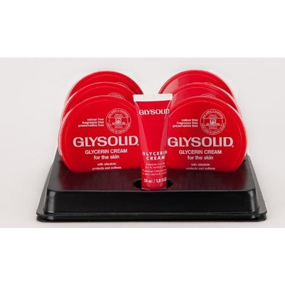 Glysolid Cream - 6 - 3.38 Oz Jars Plus 3 - 1 Oz Travel Tubes