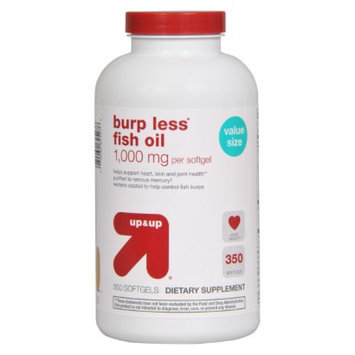 up & up up&up Burp Less Fish Oil 1000 mg Softgels - 350 Count
