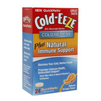 Cold-Eeze Cold Remedy Plus Natural Immune Support QuickMelts, Orange, 24 ea