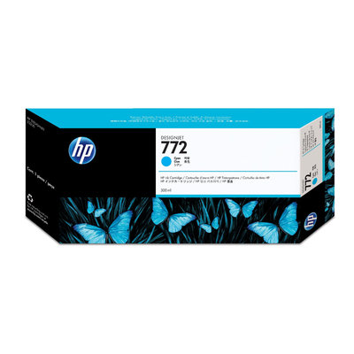 Hewlett Packard CN636A HP 772 Cyan Ink 300ml