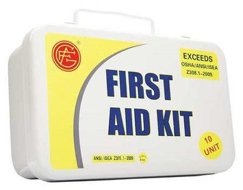 Genuine First Aid Unitized First Aid Kit 10 Unit (Metal, 3-1/4inH, 9inW, 6inD). Model: 9999-2001