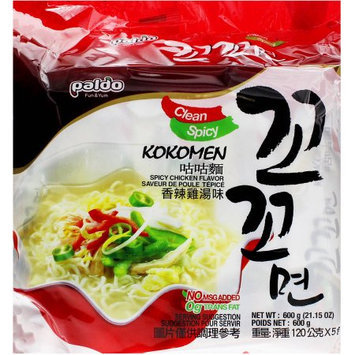Paldo Kokomen Spicy Chicken Flavor Ramen, 5 count, 21.15 oz