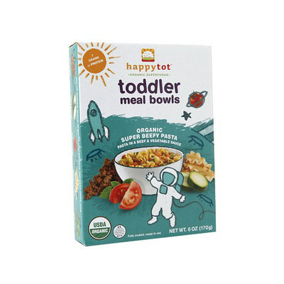 Happy Tots Organic Toddler Meal Bowls Super Beefy Pasta