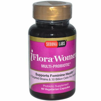 Sedona Labs iFlora Probiotics for Women 60 Vegetarian Capsules