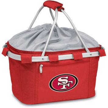 San Francisco 49ers Red Metro Cooler Basket Picnic Time